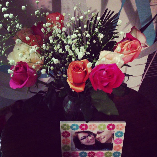 Nick surprised me with these beautiful flowers :)