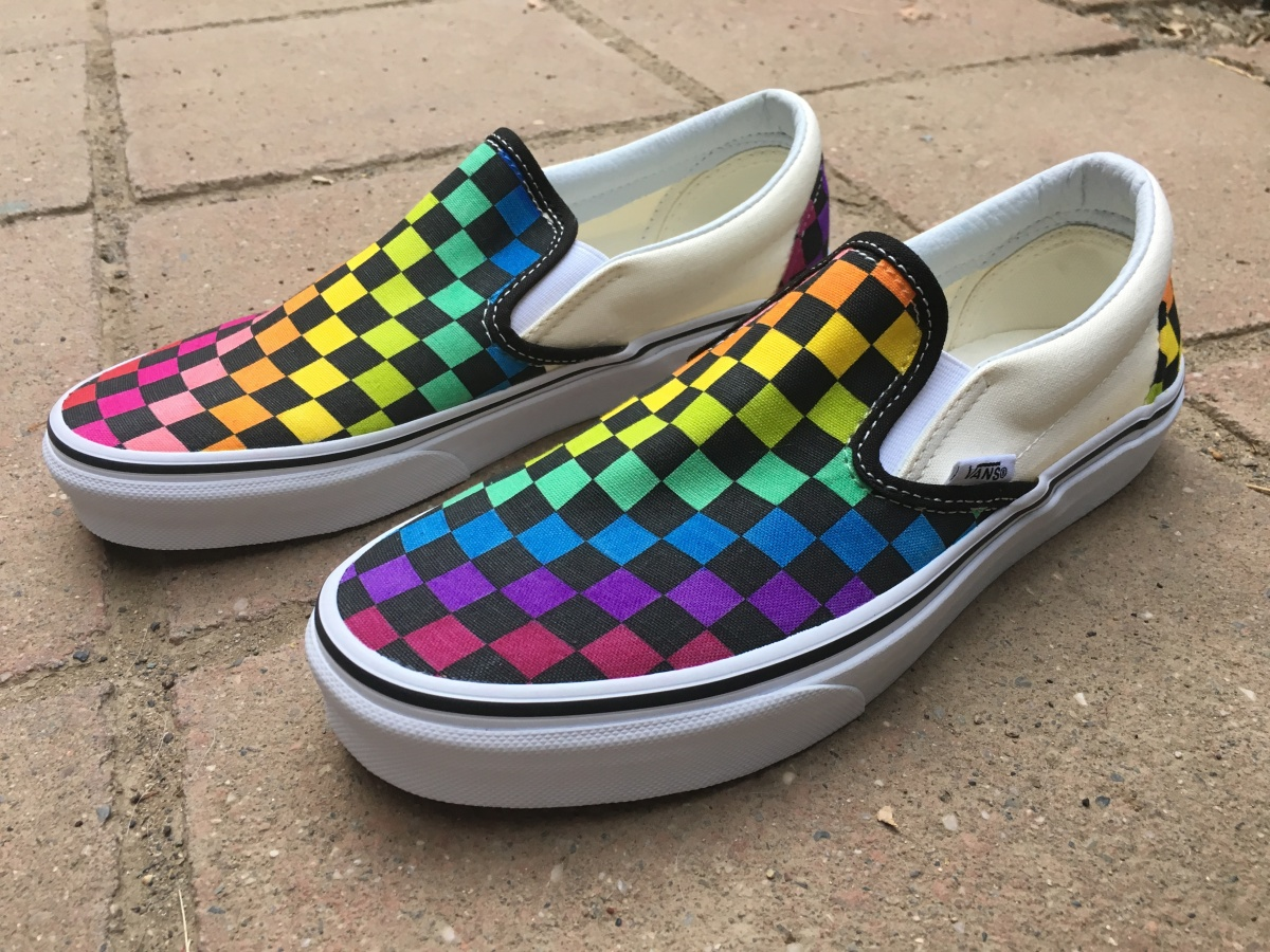 DIY Rainbow Vans