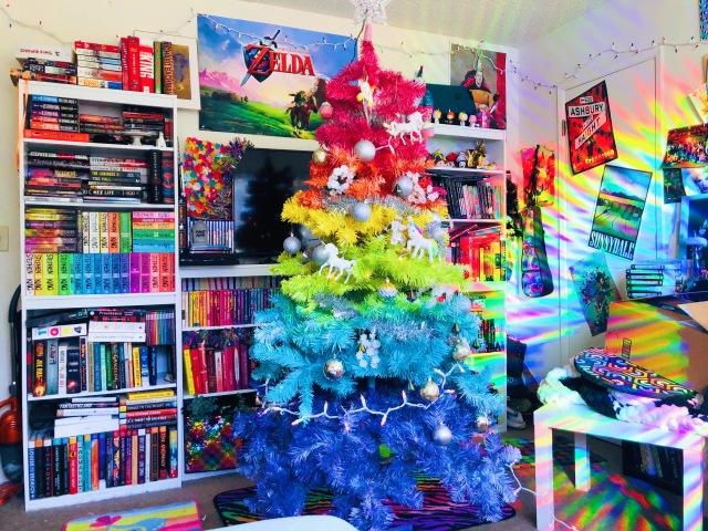 DIY Rainbow Christmas Tree