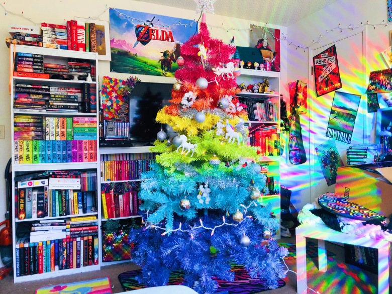 DIY Rainbow Christmas Tree