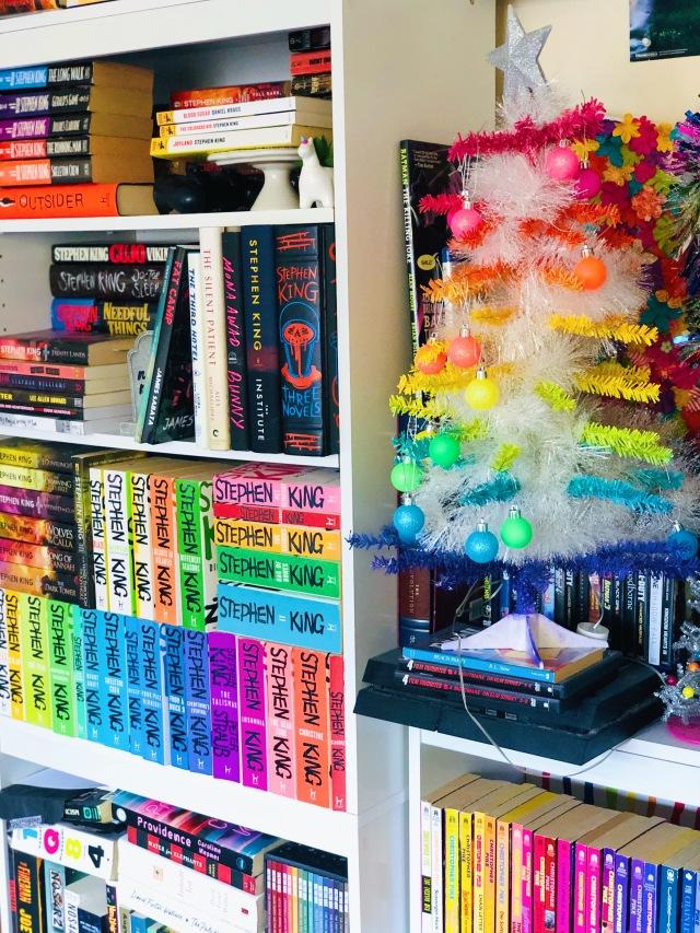 DIY Rainbow Christmas Tree Mini with Bookshelves