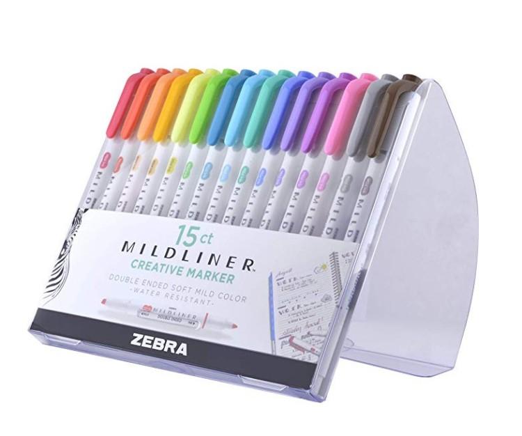 Zebra Mildliner Highlighter Markers
