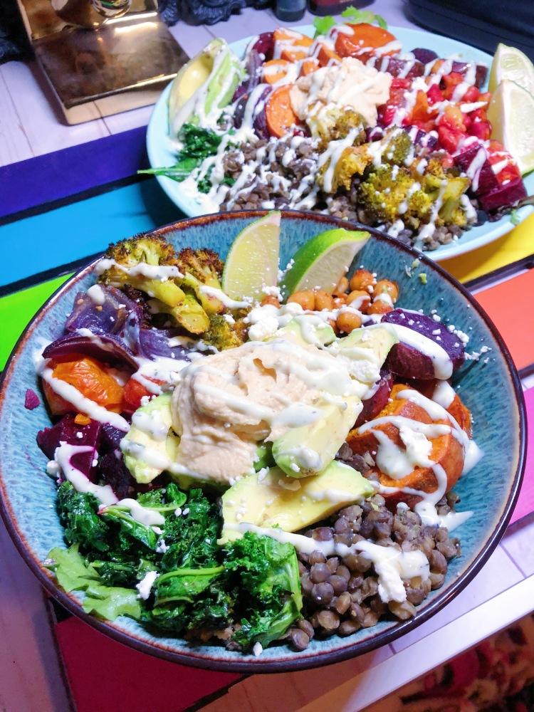 Gluten Free and Vegetarian Harvest Power Bowls