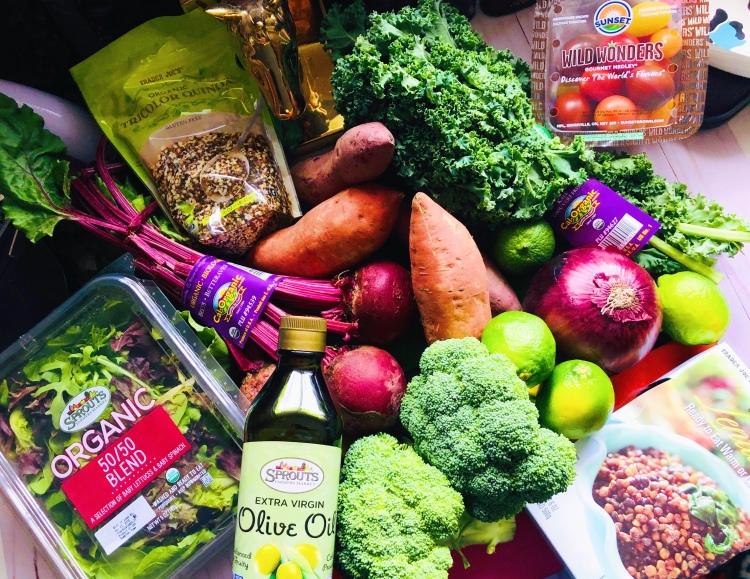 A rainbow of fresh vegetables