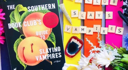 The Book Club's Guide to Slaying Vampires by Grady Hendrix book review flat lay photo