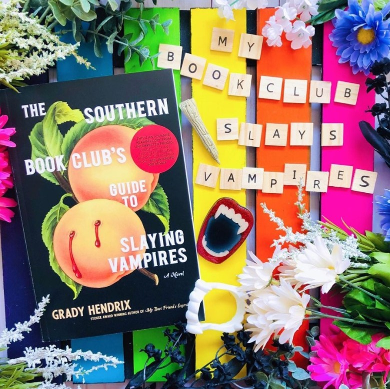 The Southern Book Club's Guide to Slaying Vampires by Grady Hendrix book review flat lay photo